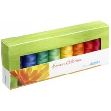 Набор с нитками Silk Finish  Оттенки Лета в подарочной упаковке, 8 катушек