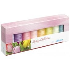 Набор с нитками Silk Finish  Оттенки Весны в подарочной упаковке, 8 катушек