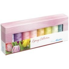 Набор с нитками Seralon  Оттенки Весны в подарочной упаковке, 8 катушек