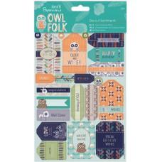 Набор бумаги с высечкой Пожелания Owl Folk