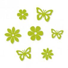 Набор декоративных элементов Бабочки и цветы, 14 шт