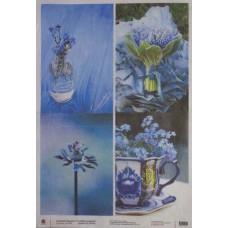 Рисовая бумага А3 Голубое и чашка