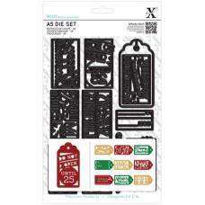 Набор ножей для вырубки Рождественские подарочные бирки