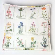 Набор для вышивания, подушка Полевые цветы канва Jobelan 27 ct