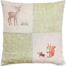 Набор для вышивания  подушка Олененок и белочка, Luca-S