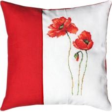 Набор для вышивания  подушка Маки, Luca-S