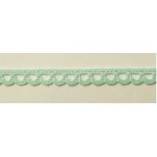 Мерсеризованное хлопковое кружево, 7 мм, цвет мятный