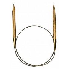 Спицы круговые из оливкового дерева №8, 40 см