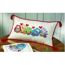 Подушка Совы в ряд набор для вышивания