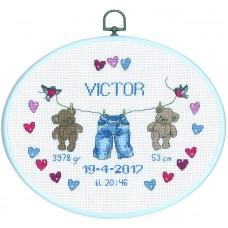 Набор для вышивания Виктор, канва Aida 14 ct