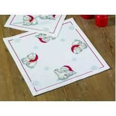 Салфетка Белые медведи набор для вышивания