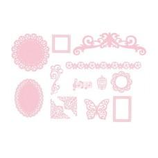 Набор декоративных элементов высеченных из бумаги
