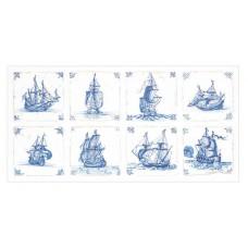 Набор для вышивания Кафель Дельфтский фаянс, канва аида 18 ct