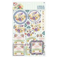 Набор бумаги с высечкой Смех Folk Floral