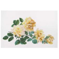 Набор для вышивания Роза Мира, канва лён 36 ct