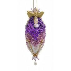 Набор для творчества - елочная игрушка Сиреневый кристалл