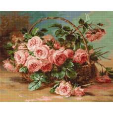 Набор для вышивания Розы в корзине, Luca-S