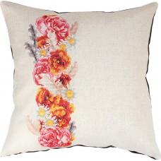 Набор для вышивания,  подушка Цветочная гирлянда, Luca-S