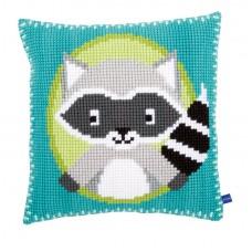 Подушка Енот набор для вышивания