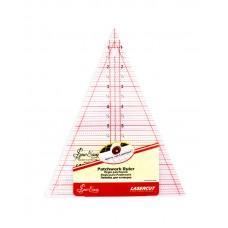 Линейка-треугольник с углом 45*, градация в дюймах, размер 8 1/2 x 7