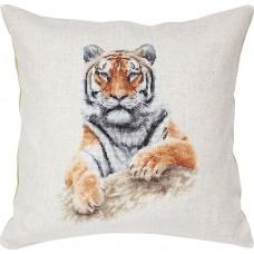 Набор для вышивания,  подушка Тигр, Luca-S