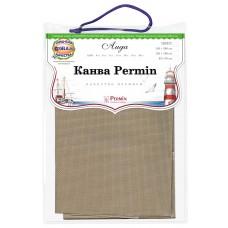 Канва в упаковке Aida 14 ct, 5,4 клетки на 1 см, цвет 100 натуральный коричневый, 65 х 50 см
