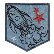Термоаппликация HKM Ракета, 1 шт