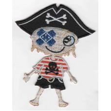 Термоаппликация HKM Мальчик-пират, 1 шт