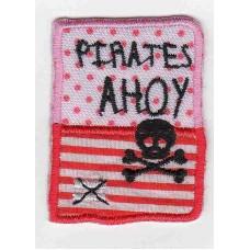 Термоаппликация HKM Эмблема квадратная Pirates Ahoy, 1 шт