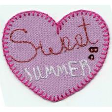 Термоаппликация HKM Сердце - Sweet Summer, 1 шт