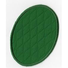 Термоаппликация Овал зеленый, 2 шт