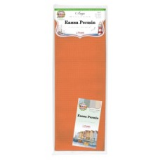 Канва в упаковке Aida 14 ct, 5,4 клетки на 1 см, цвет 275 ярко-оранжевый, 100 х 130 см