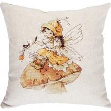Набор для вышивания, подушка Девочка и муравей, Luca-S