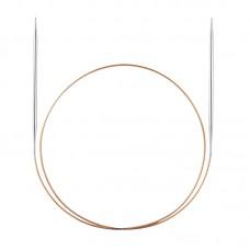 Спицы, круговые, экстратонкие, из никелированной латуни №1,75, 60 см