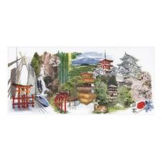 Набор для вышивания Япония, канва аида 18 ct