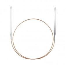 Спицы никелированные круговые с удлиненным кончиком, №7, 60 см