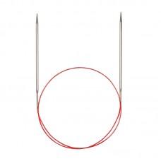 Спицы никелированные круговые с удлиненным кончиком, №8, 60 см