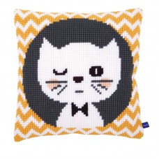 Подушка Подмигивающий котенок набор для вышивания