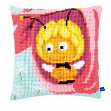 Подушка Майя в розовом цветке набор для вышивания