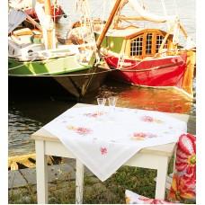 Скатерть Красочные цветы набор для вышивания
