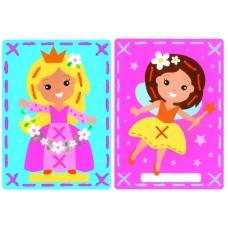 Набор для вышивания из 2-х сюжетов Фея и принцесса (для начинающих) на перфорированной бумаге