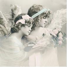 Салфетки трехслойные для декупажа, коллекция Lunch Sagen Vintage Design Цветочные ангелочки