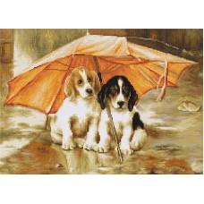 Набор для вышивания Двое под зонтом, Luca-S