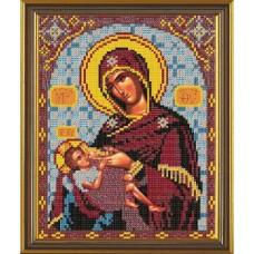 Рисунок на ткани бисер НОВА СЛОБОДА МАХ.БИС-А4-9039  Богородица Млекопитательница 19x23 см