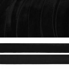 Лента бархатная эластичная TBY.LB1503.EL нейлон шир.15мм цв.черный уп.20м