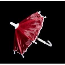 Зонт маленький КЛ.24013 16см пластмассовый бордовый