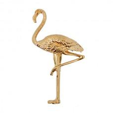 Брошь металл Фламинго TBY.63147 29х52мм цв.золото уп.5шт