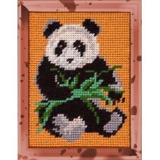 Набор для вышивания с пряжей BAMBINI X2203 Панда 15х20 см