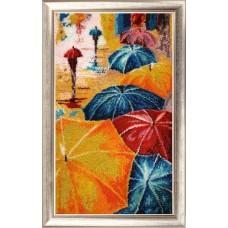 Набор для вышивания BUTTERFLY  833 Весёлые зонтики 39х23 см