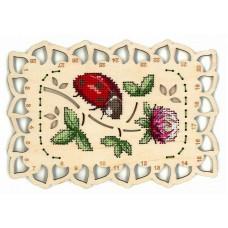 Набор для вышивания Щепка О-040 Органайзер Божья коровка 19х13 см